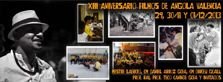 XIII Cumpleaños GCFA Filhos de Angola Valencia